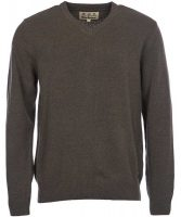 Barbour - Mens Nelson Essential V Neck Jumper Seaweed