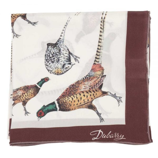 DUBARRY Tullynally Pheasant Silk Scarf
