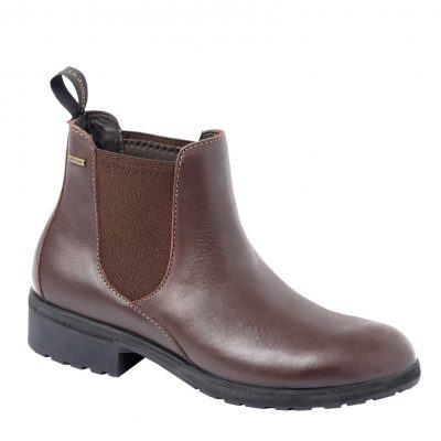 DUBARRY Waterford Chelsea Boots - Ladies Waterproof Gore-Tex Leather - Mahogany