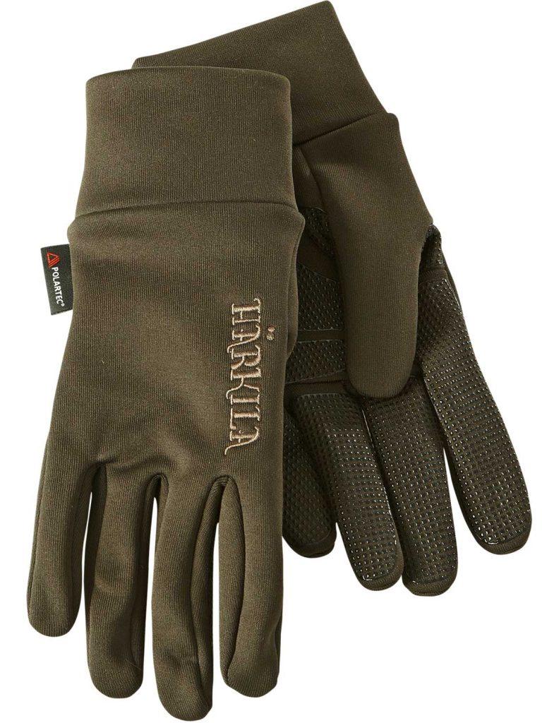 HARKILA Gloves - Power Liner Lightweight Polartec - Dark Olive