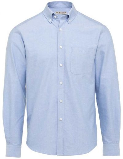 RM Williams - Collins Oxford Shirt - Blue Button Down