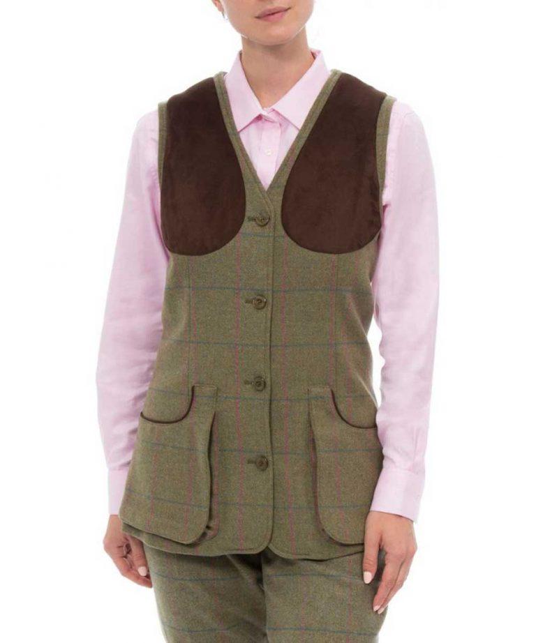 ALAN PAINE – Ladies Combrook Shooting Waistcoat - Juniper