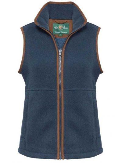 ALAN PAINE Gilet - Ladies Aylsham Fleece Waistcoat - Blue Steel