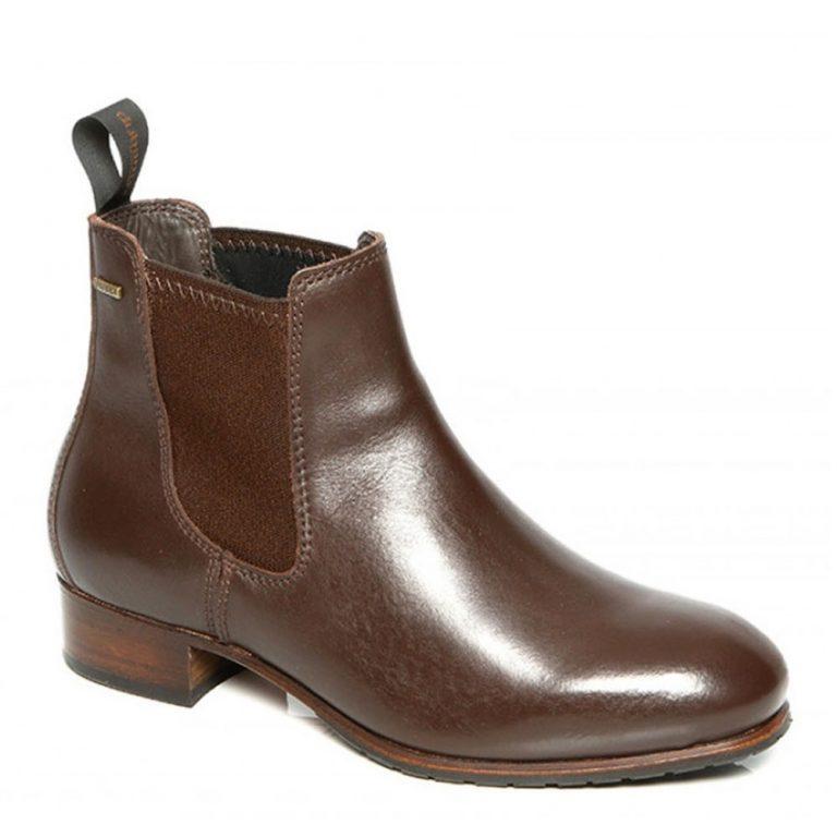 DUBARRY Cork Chelsea Boots - Ladies Gore-Tex Leather - Mahogany