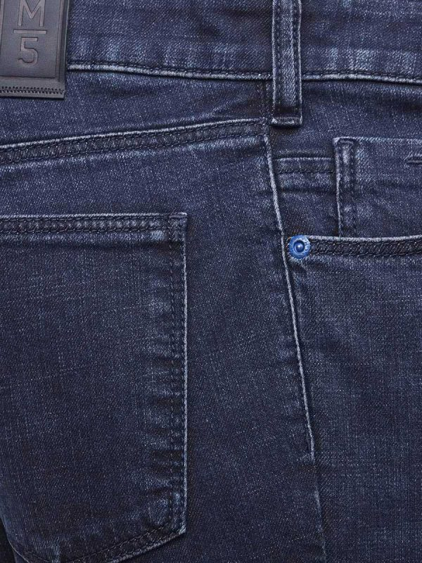 Meyer M5 Jeans - Cross Hedge Stretch Denim - Slim Fit - Dark Blue