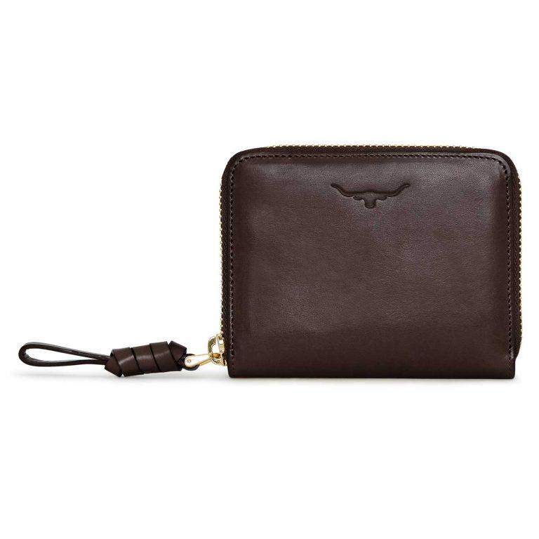 RM Williams Ladies Short Zip Purse - Chestnut