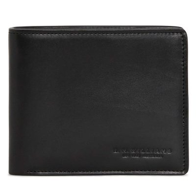 RM Williams Men's Leather Bi-Fold Wallet - Black