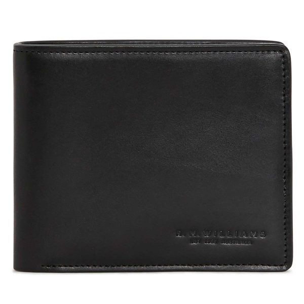 RM Williams Men's Leather Bi-Fold Wallet - Black