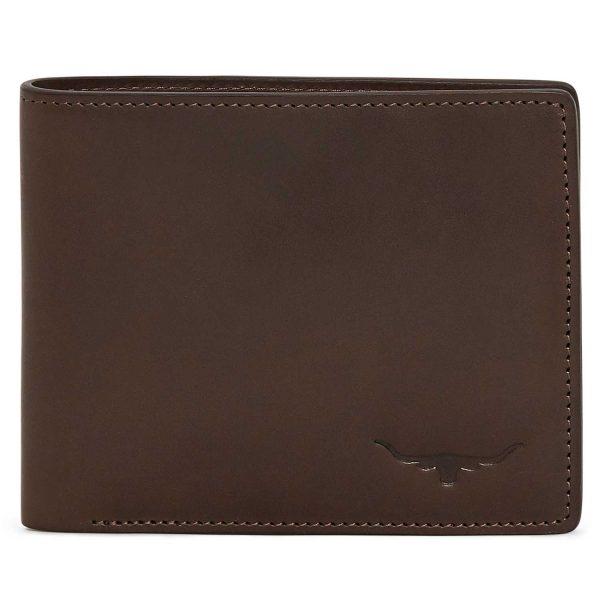 RM Williams Men's Leather Bi-Fold Wallet - Chestnut