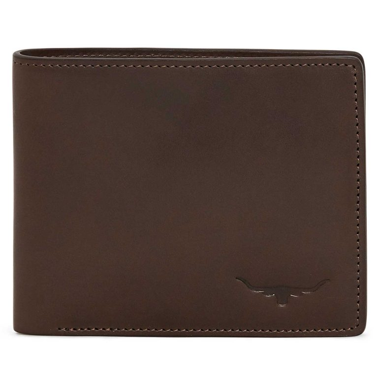 RM Williams Men's Leather Bi-Fold Wallet - Chestnut