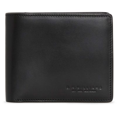 RM Williams - Men's Leather Wallet with Coin Pocket - Black