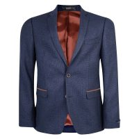 Magee Blazer - Men's Navy & Blue Geometric Design - Tailored Fit