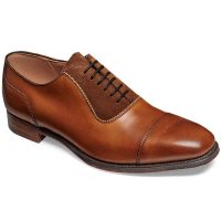 Cheaney - Brackley Oxford Style Shoes Chestnut Calf & Fox Suede