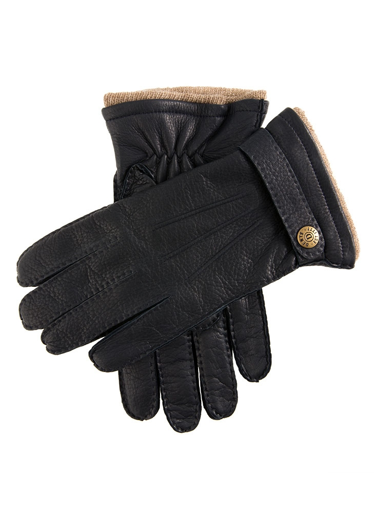 Dents Men's Gloucester Cashmere Lined Deerskin Leather Gloves