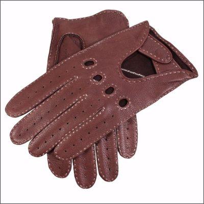 DENTS Winchester Deerskin Leather Driving Gloves - Bark