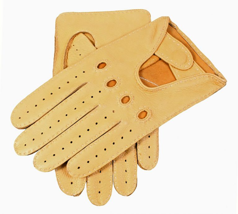 DENTS Winchester Deerskin Leather Driving Gloves - Chamois