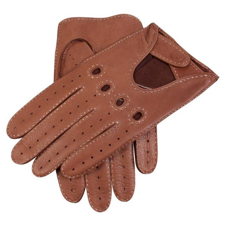 DENTS Winchester Deerskin Leather Driving Gloves - Havana