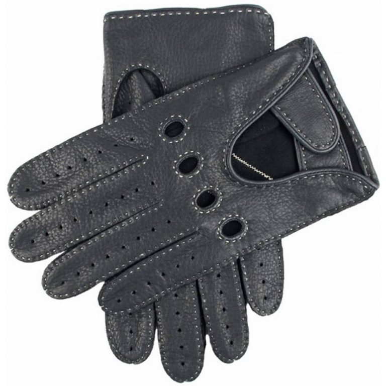 DENTS Winchester Deerskin Leather Driving Gloves - Navy