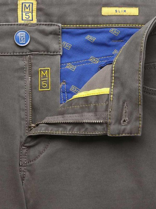 Meyer M5 Jeans - 6106 Pima Cotton Five Pocket - Slim Fit - Taupe