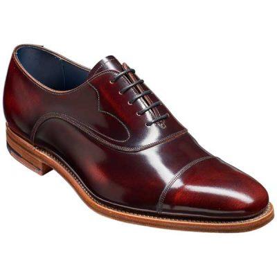 BARKER Hartley Shoes – Oxford Toe Cap – Burgundy Hi-Shine