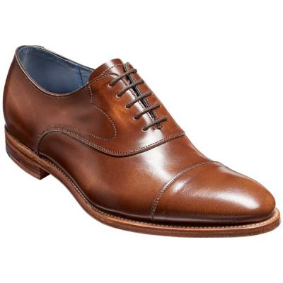 BARKER Hartley Shoes – Oxford Toe Cap – Cedar Hi-Shine