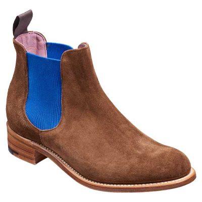 BARKER Violet Boots – Ladies Chelsea – Castagnia Suede