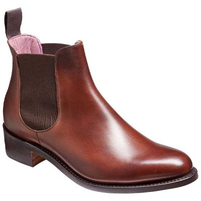 BARKER Violet Boots – Ladies Chelsea – Walnut Calf