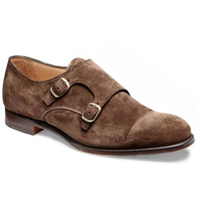 Cheaney - Edmund Double Buckle Monk Plough Suede