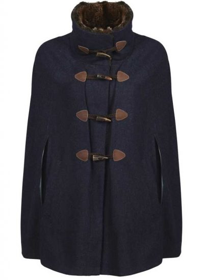Dubarry Samphire Ladies Tweed Cape - Navy