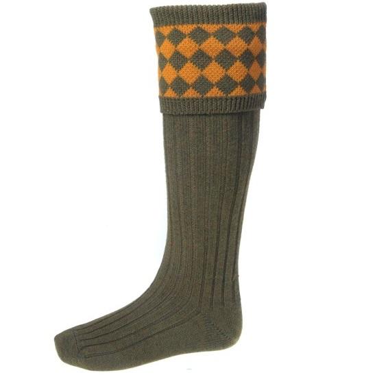 House Of Cheviot Chessboard Shooting Socks