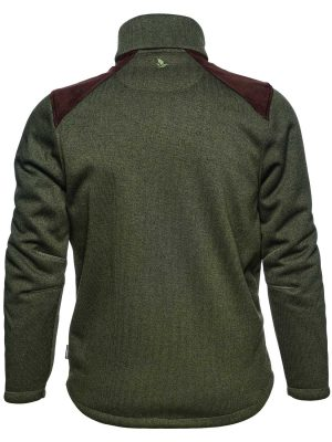 SEELAND Jacket - Mens Dyna Knit Fleece - Forest Green