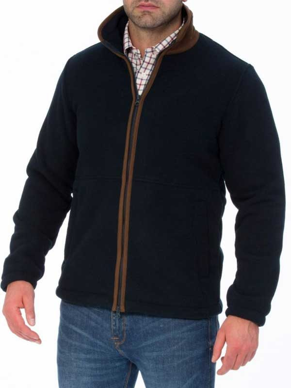 ALAN PAINE - Mens Aylsham Fleece Jacket - Dark Navy