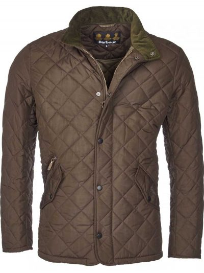 BARBOUR Jacket - Mens Chelsea Sportsquilt Tailored Fit - Olive