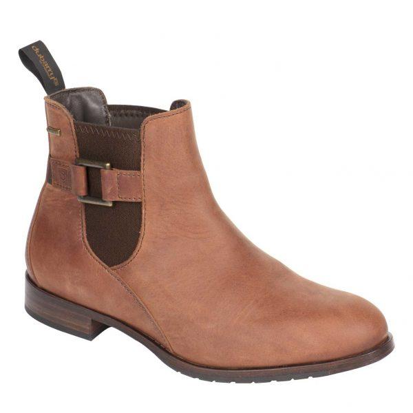 DUBARRY Monaghan Chelsea Boots - Ladies Waterproof Gore-Tex Leather - Chestnut
