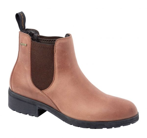 DUBARRY Waterford Chelsea Boots - Ladies Waterproof Gore-Tex Leather - Chestnut