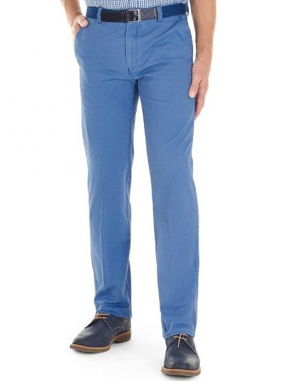 GURTEEN Chinos – Longford Summer Stretch Cotton – Air Force Blue