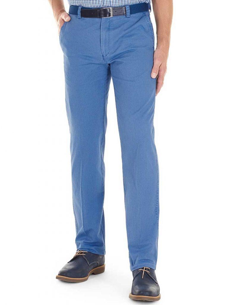 GURTEEN Chinos – Longford Summer Stretch Cotton – Air Force Blue