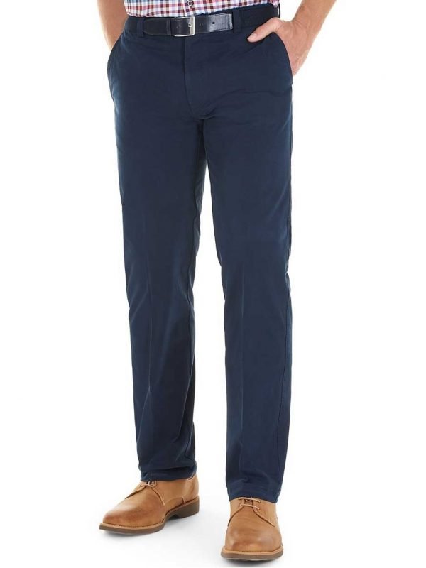 GURTEEN Chinos - Longford Summer Stretch Cotton - Navy