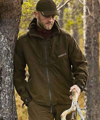 Härkila Norse Mens Jacket - Hunting Green / Shadow Brown