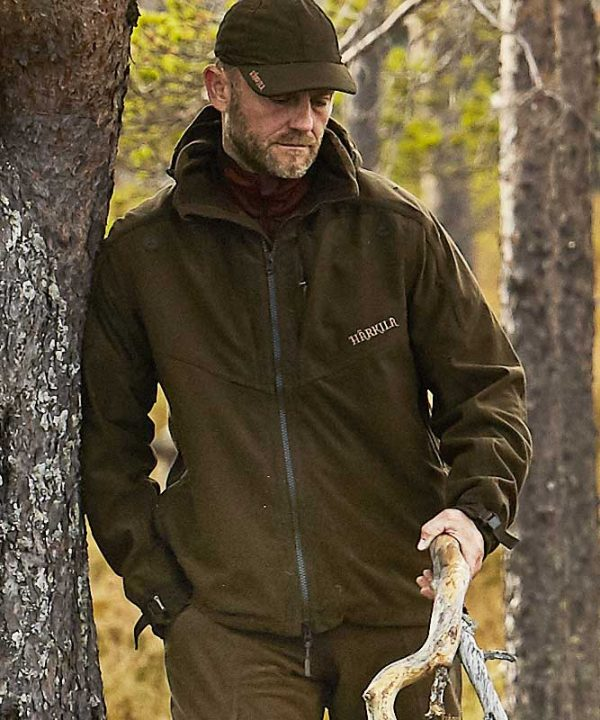Härkila Norse Mens Jacket - Hunting Green / Shadow Brown