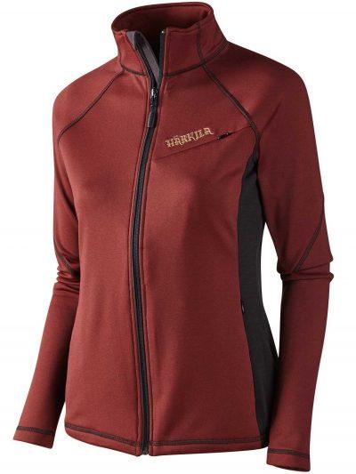 HARKILA Jacket - Ladies Vestmar Hybrid Fleece - Syrah Red