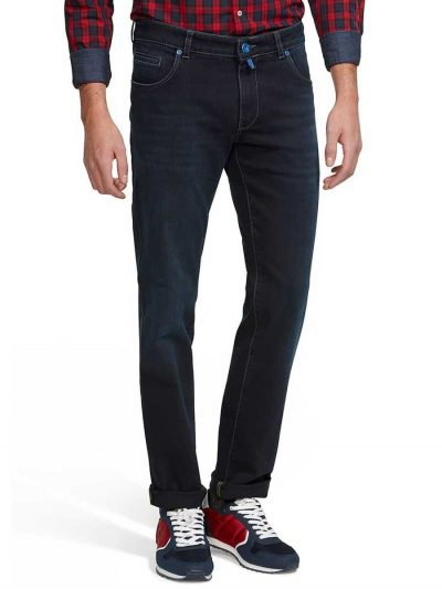 Meyer M5 Jeans - 6209 Stretch Denim - Regular Fit - Navy Blue