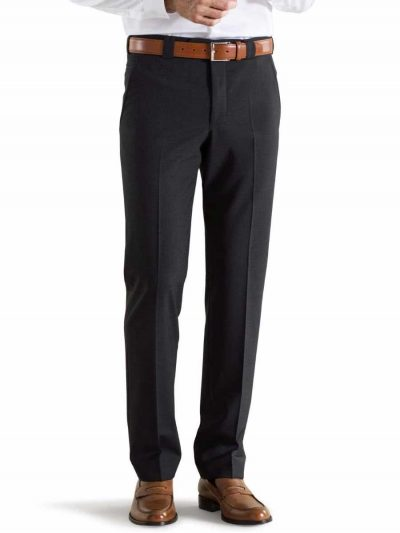 Meyer Roma 344 - Tropical Wool-Mix Trousers - Charcoal