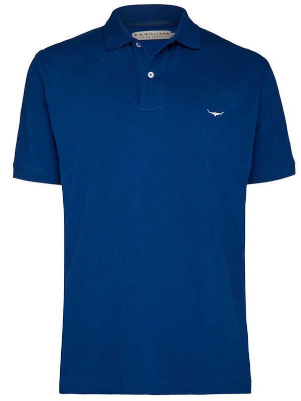 RM WILLIAMS Polo Shirt - Men's Rod - Blue