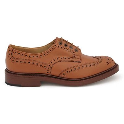Tricker's Bourton Brogues - Dainite Sole C Shade Tan