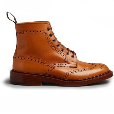 Tricker's Stow Country Boots - Dainite Sole - Acorn Antique