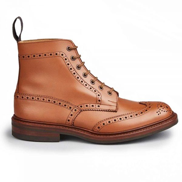 Tricker's Stow Country Boots - Dainite Sole C Shade Tan