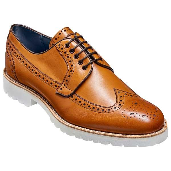 BARKER Hawk Shoes - Mens Derby Brogues - Cedar Calf