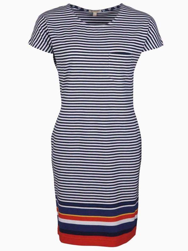 Barbour Ladies Harewood Striped Dress - Navy