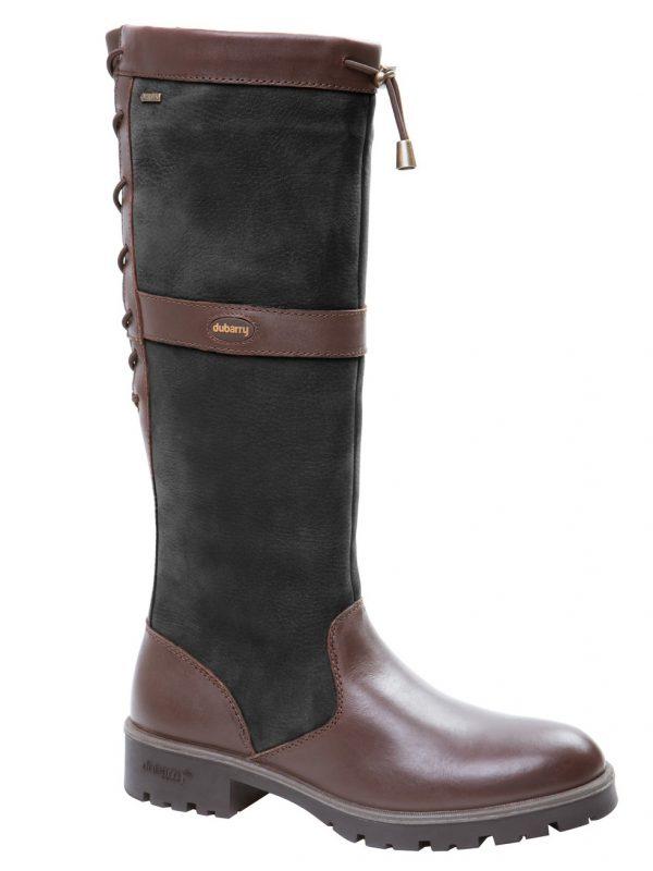 DUBARRY Glanmire Boots - Ladies Waterproof Gore-Tex Leather - Black & Brown